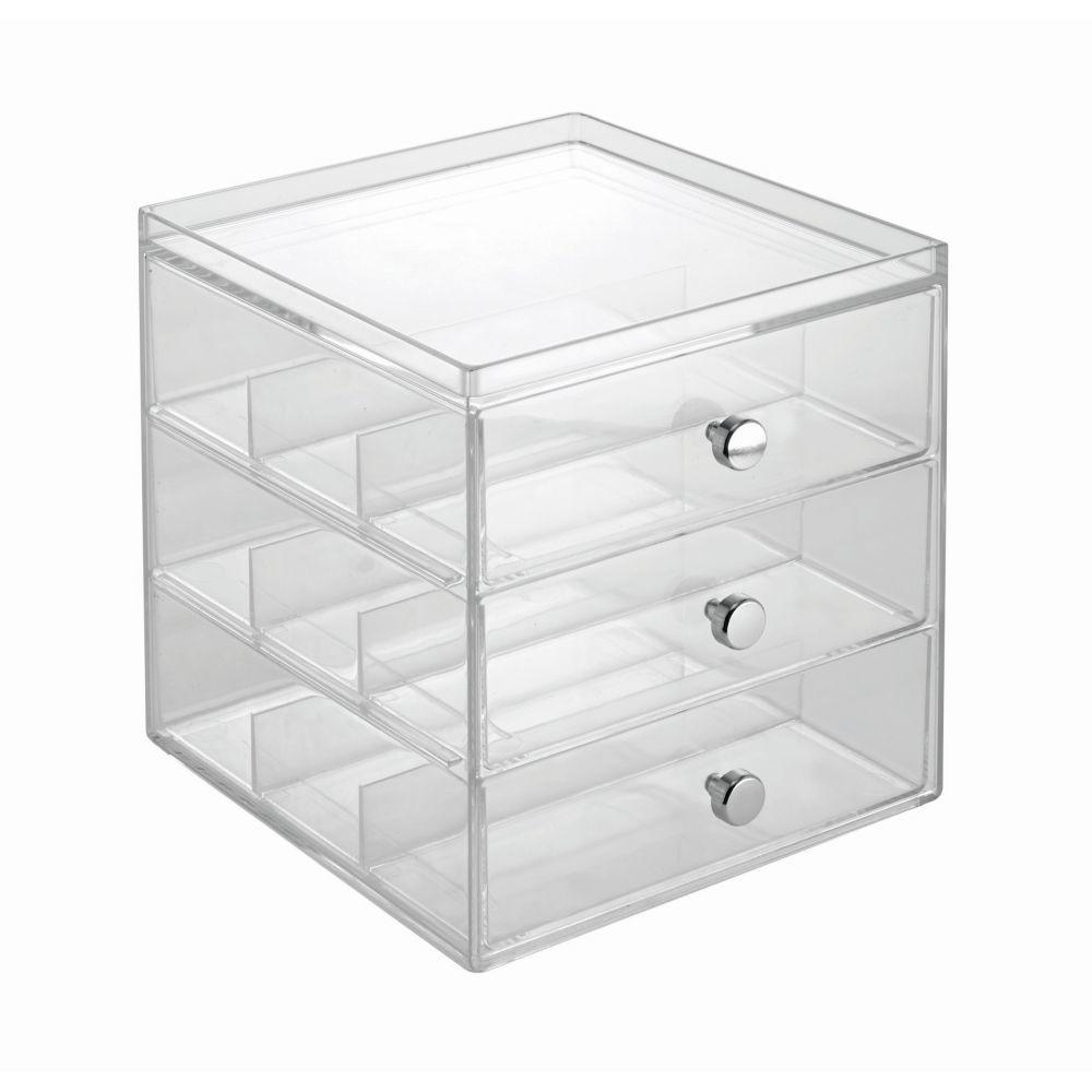 Transparentný organizér na okuliare InterDesign, 3 zásuvky