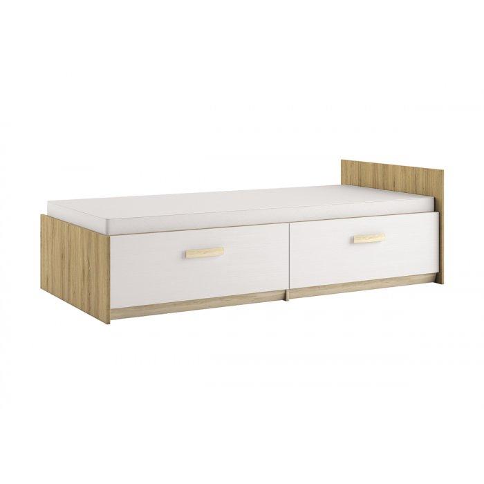 ML MEBLE BEST 17 90 posteľ - dub divoký / biela linea / breza