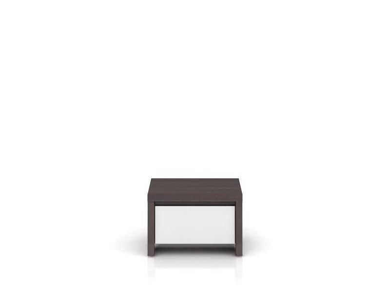 Nočný stolík Kaspian KOM1S (wenge + lesk biely)