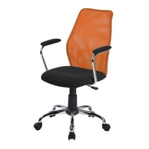 Kancelárska stolička BST 2003  TW170 CIERNA/TW96 ORANZOVA