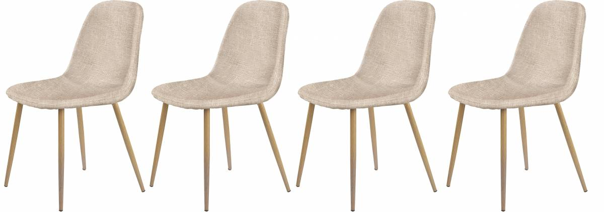 Set 4ks. jedálenských stoličiek K220 (tmavokrémová + dub medový) *výpredaj