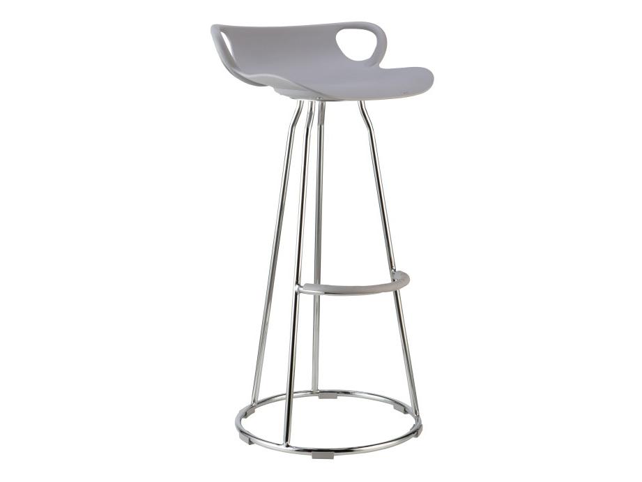 Barová stolička Gladi (sivá + chróm)