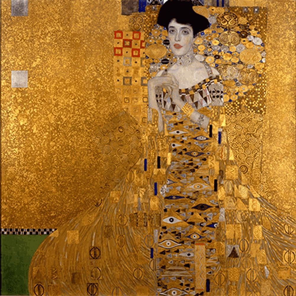 Obraz Gustav Klimt Adele Bloch-Bauer I, 90 x 90 cm