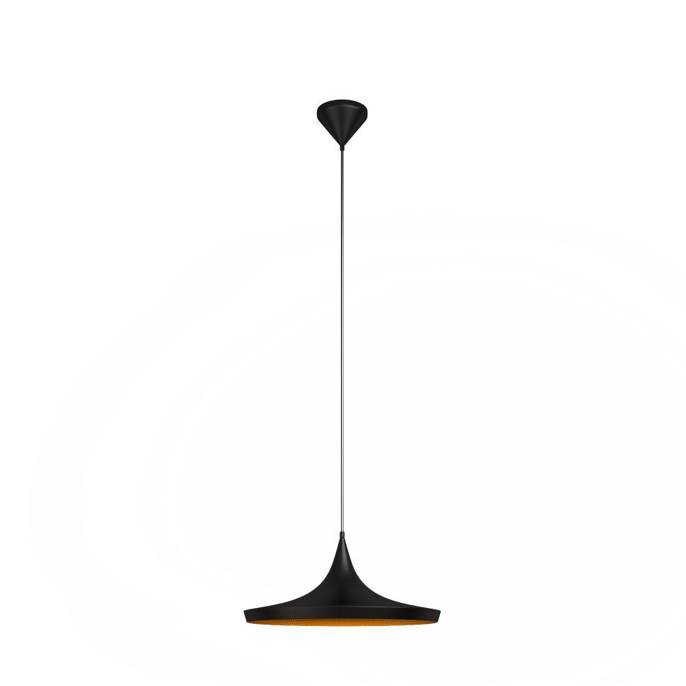 Čierne stropné svietidlo Awe