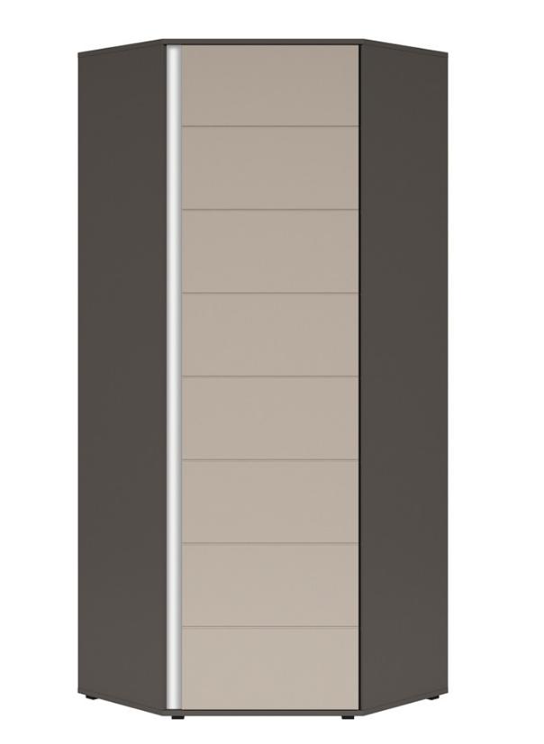 Šatníková skriňa rohová Graphic SZFN1D/C   Farba: sivý wolfram / popol