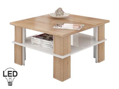 Konferenčný stolík Futura 1 (sonoma svetlá + lesk biely)