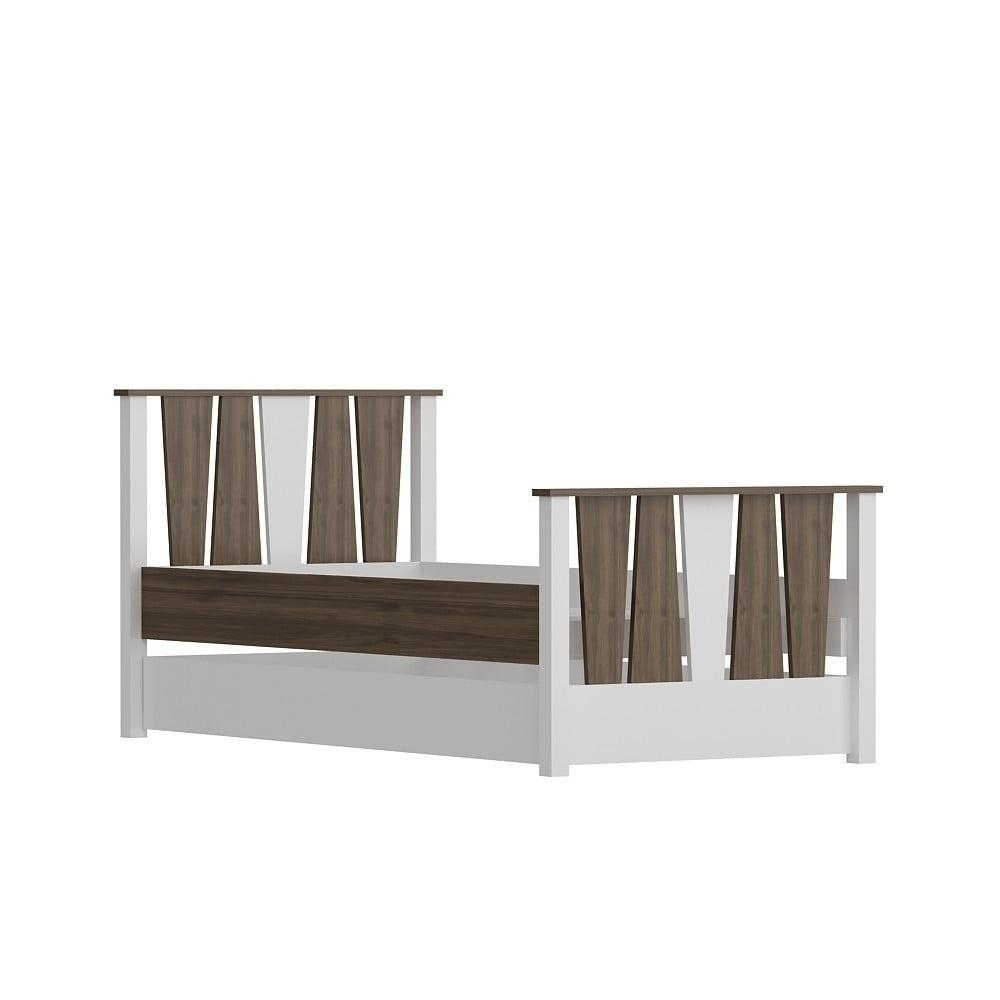 Jednolôžková posteľ Res Walnut White, 104×201 cm