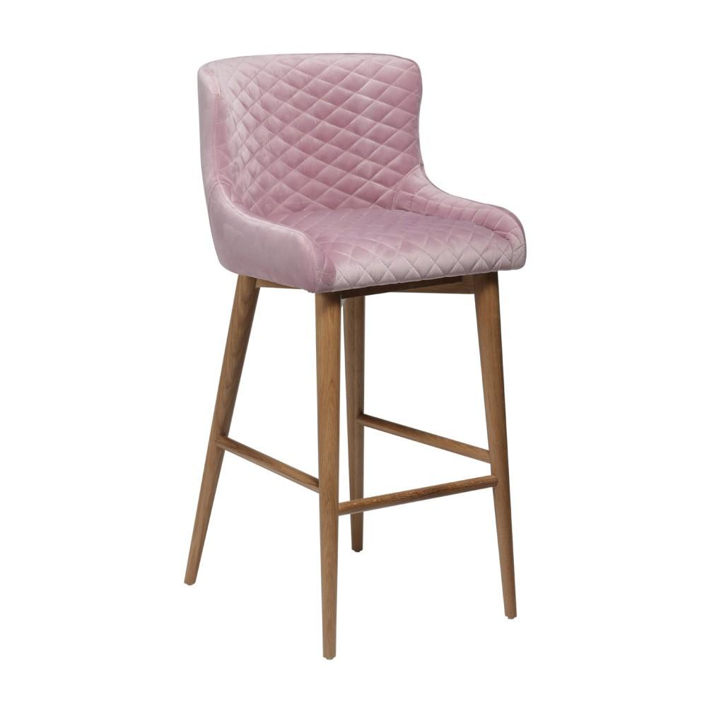Púdrovoružová barová stolička DAN-FORM Denmark Vetro