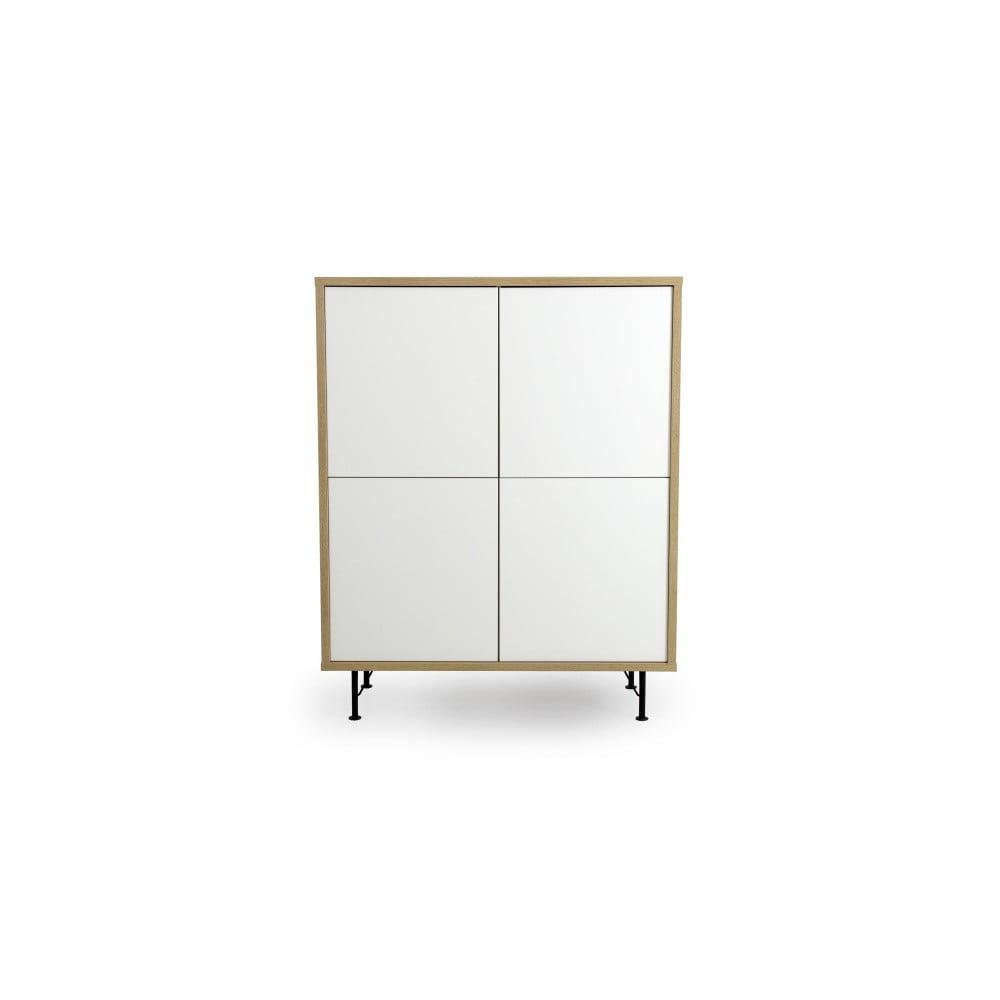 Biela skriňa Tenzo Flow, 111 x 137 cm