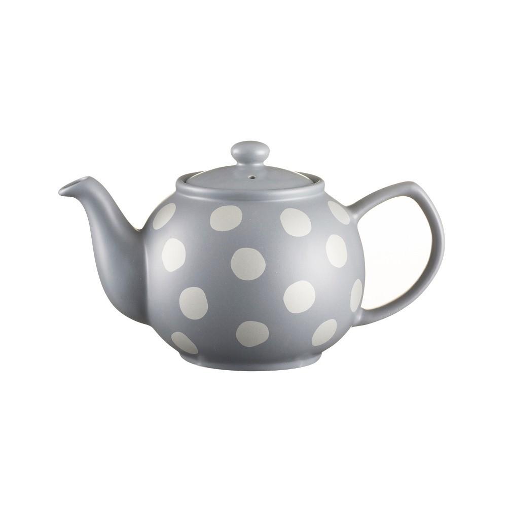 Sivá čajová kanvica s bodkami z kameniny Price&Kensington Gold Spot, 1,2 l