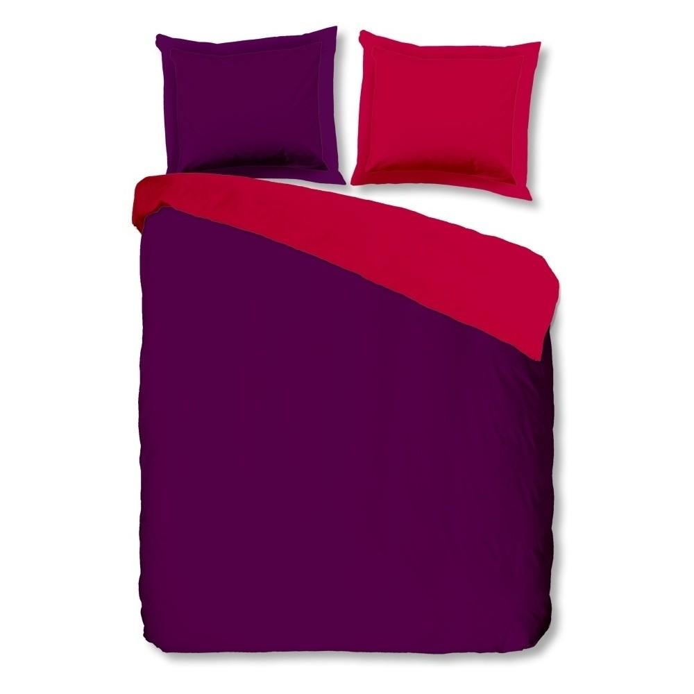 Fialovo-ružové bavlnené obliečky Muller Textiels Uni, 200 x 200 cm
