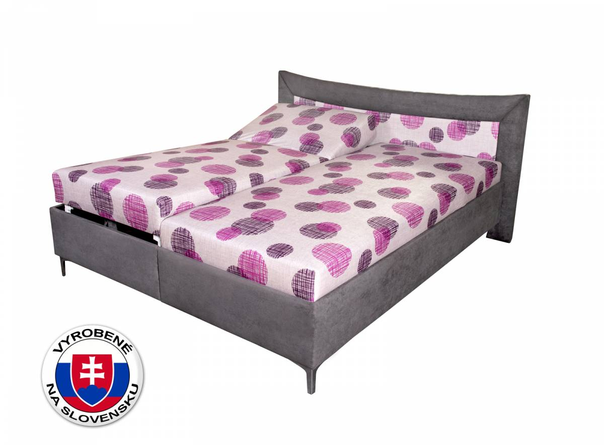 Manželská posteľ 170 cm Benab Sahara Simple (s roštami a matracmi)
