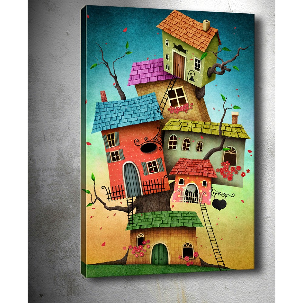 Obraz Tablo Center Tree Houses, 40 × 60 cm