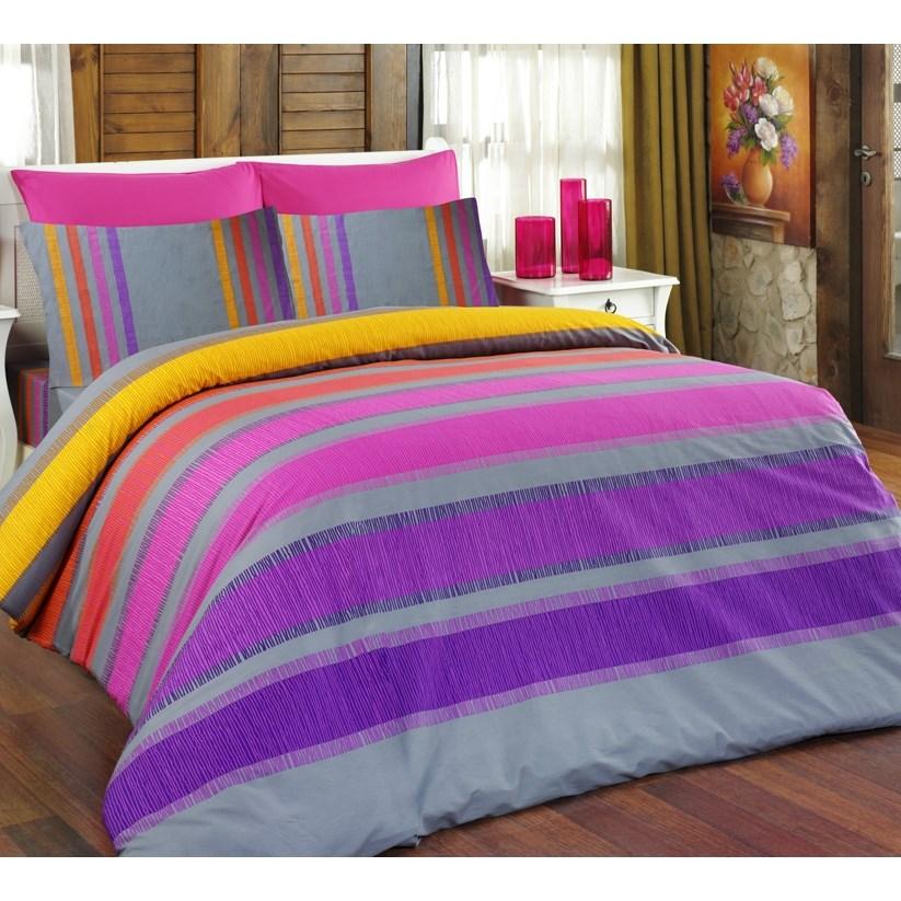 Bedtex obliečky ELLE fialové bavlna, 140 x 220 cm, 70 x 90 cm