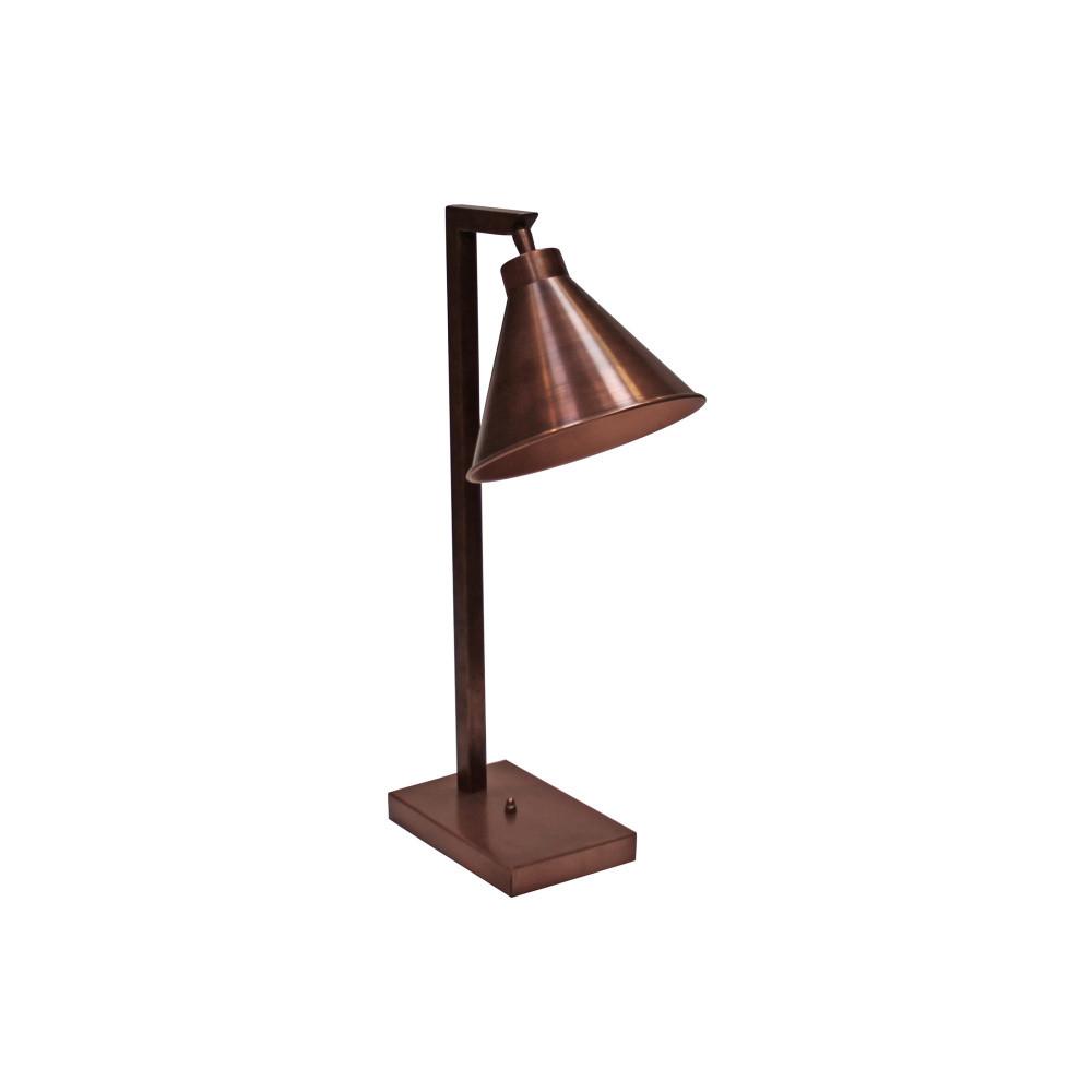 Medená stolová lampa Canett Solrød