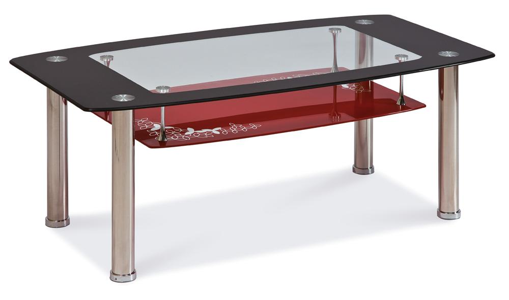 Konferenčný stolík Twist C červený