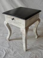 Furniture nábytok  Masívny nočný stolík s 1 zásuvkou  z Palisanderu  Mánik  40x40x51 cm