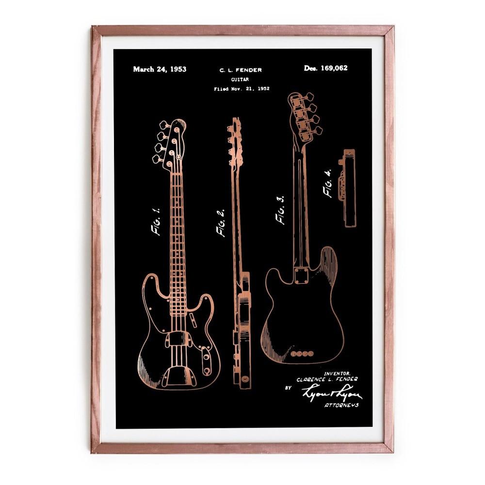 Obraz Really Nice Things Fender Guitar, 40x60cm