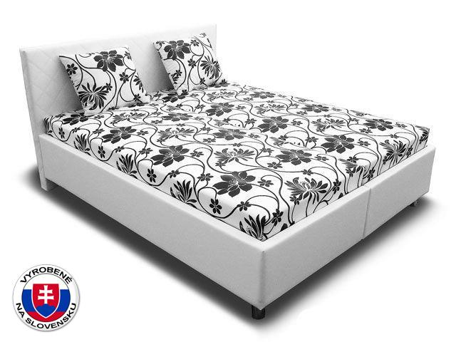 Manželská posteľ 160 cm Leona 3 (s pružinovými matracmi)