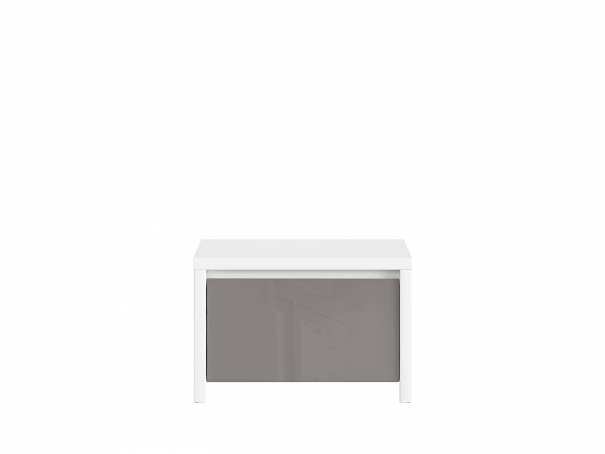 Botník (skrinka na topánky) Kaspian SBUT/60 (biela + sivý lesk)