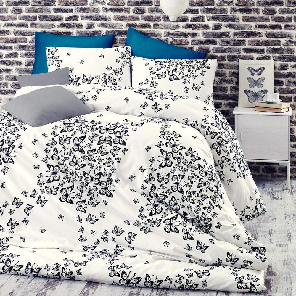 Obliečky Butterfly Blue s plachtou200x220cm