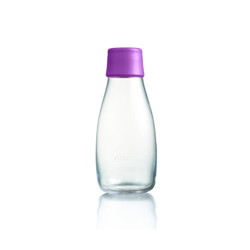 Fialová sklenená fľaša ReTap s doživotnou zárukou, 300ml