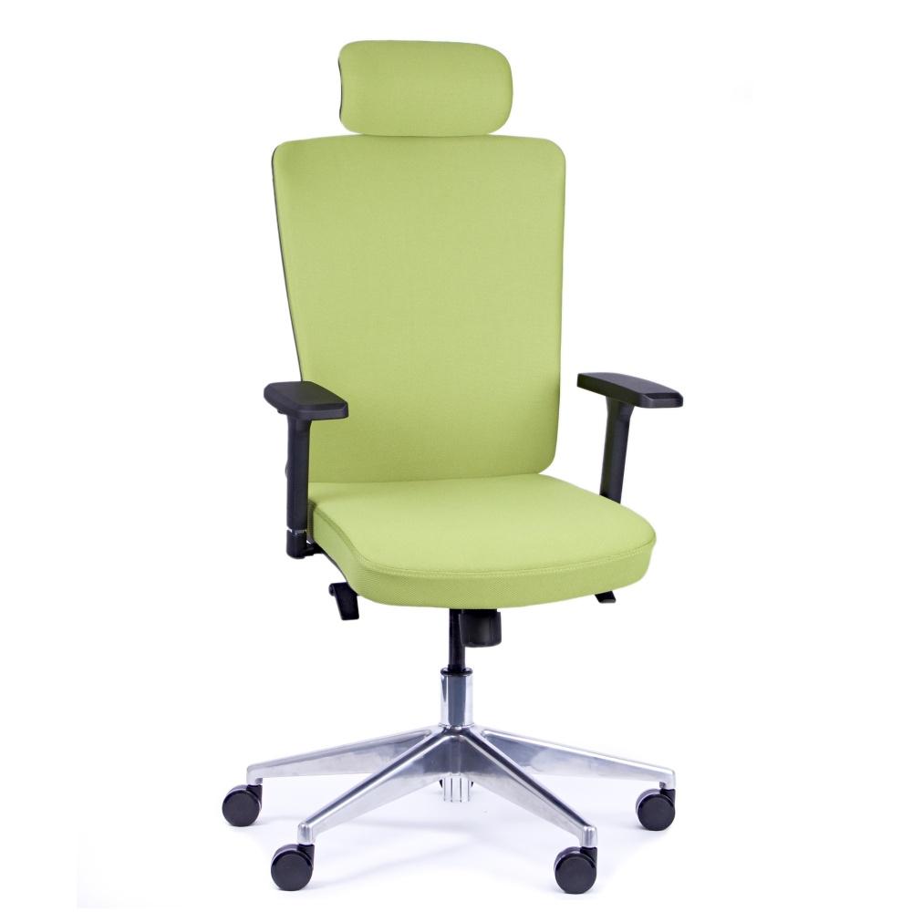 Rauman Kancelárska stolička Vella, zelená s hlavovou opierkou VELLA AF B11