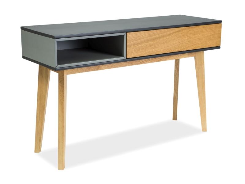 MORA konzola 120x40 cm, dub/grafit