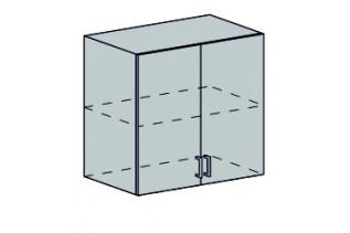 GRÉCKO horná 2-dverová skrinka 80H biely metalic