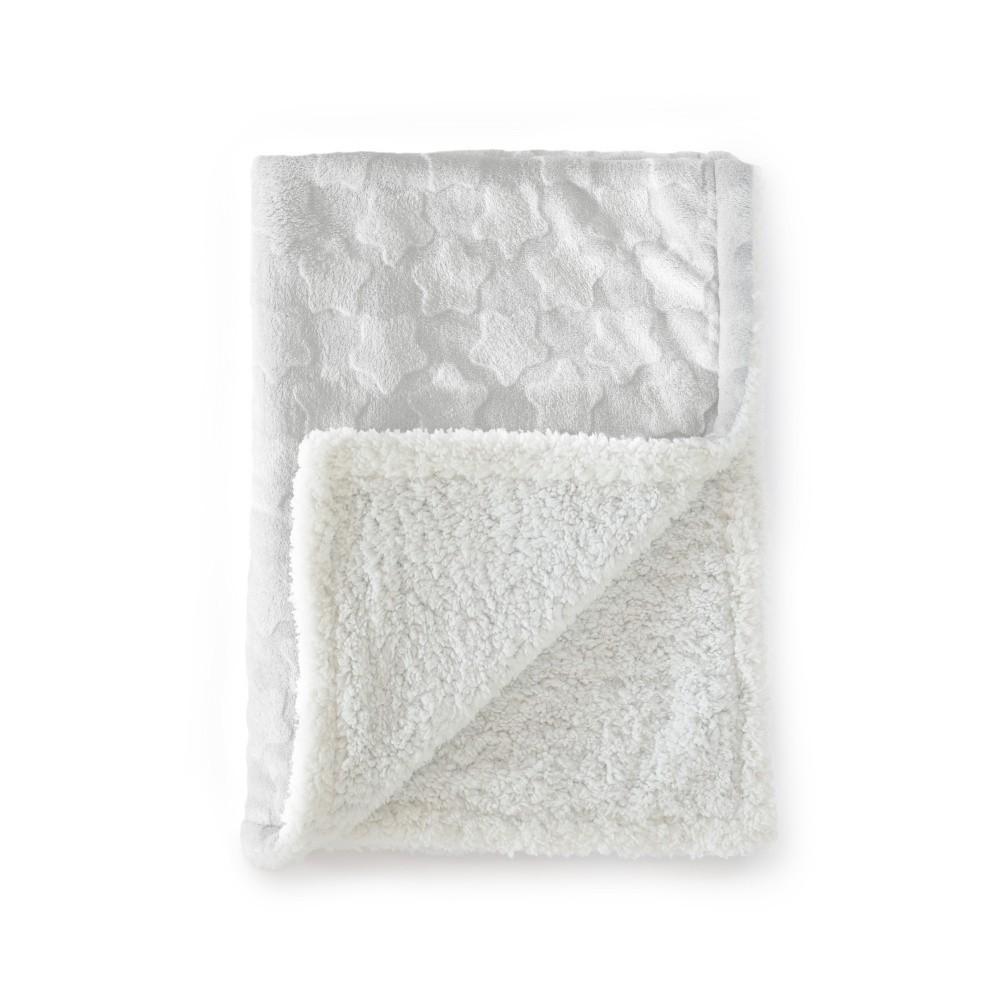 Sivá detská deka Tanuki Estrellas, 80×110cm