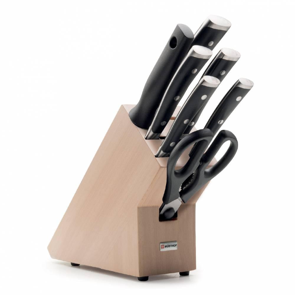 Sada nožů s ocílkou, nůžkami a bukovým blokem 8dílná Classic Ikon