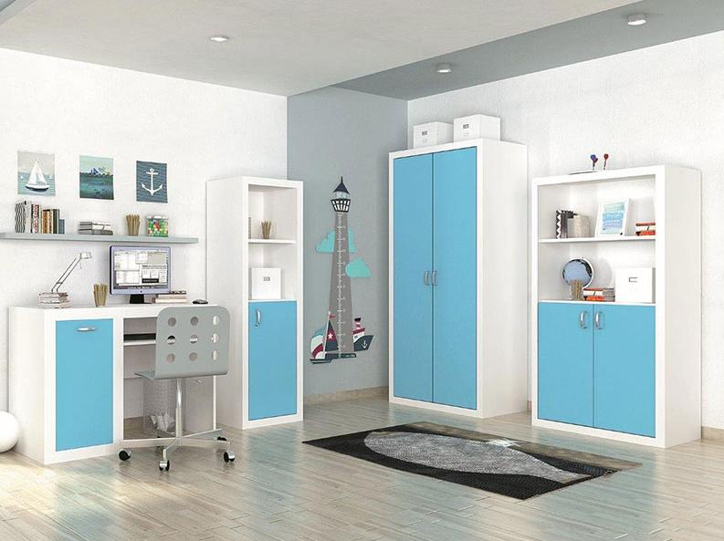 Detská izba FILIP / COLOR   Farba: biela / blankytná