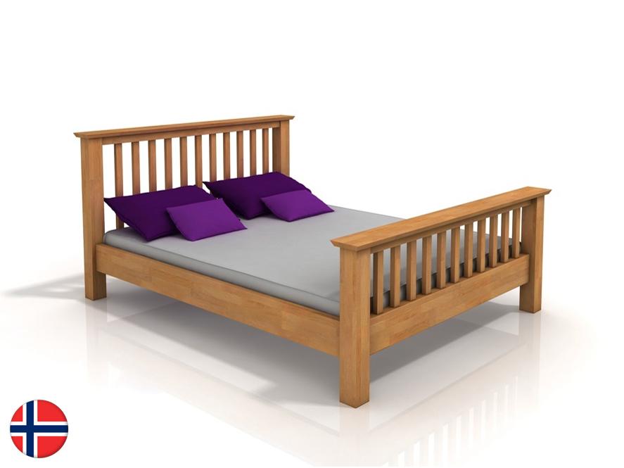 Manželská posteľ 200 cm Naturlig Leikanger (buk) (s roštom)