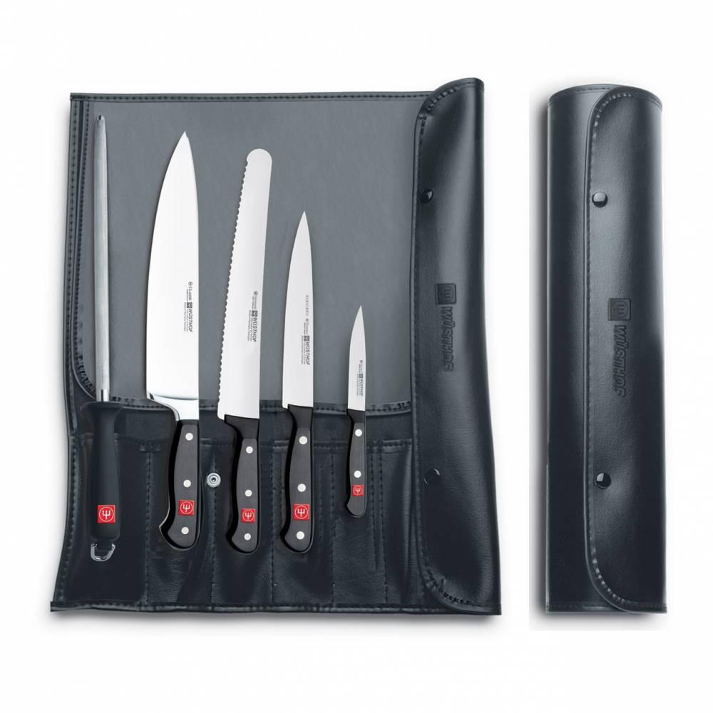 Súprava nožov s ocieľkou v puzdre 6-dielna