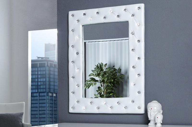 Zrkadlo na stenu BUTIQUE M WHITE - biela