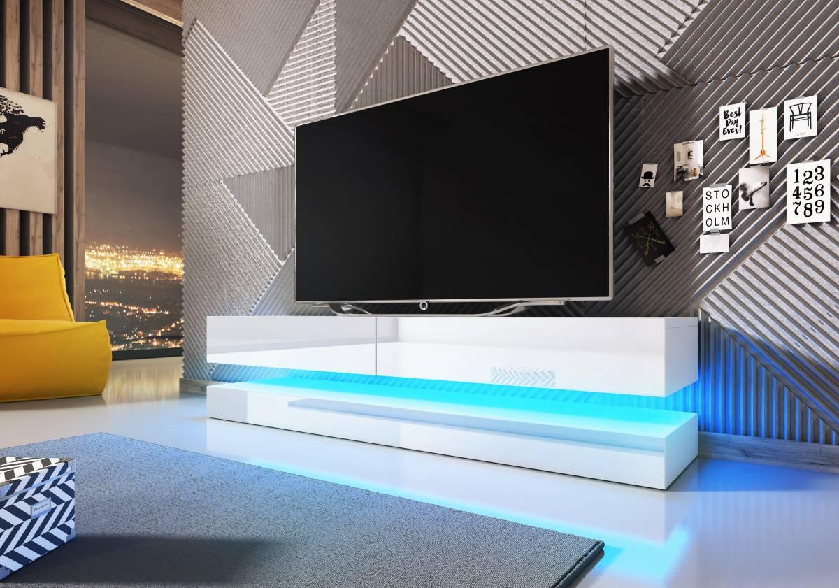 TV stolík Fly (biely lesk)