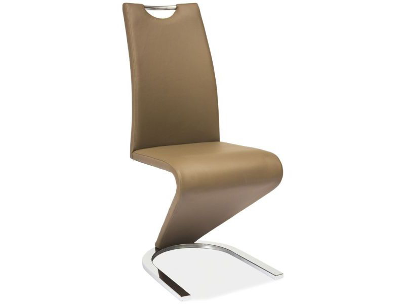 Jedálenská stolička HK-090, cappuccino/chróm