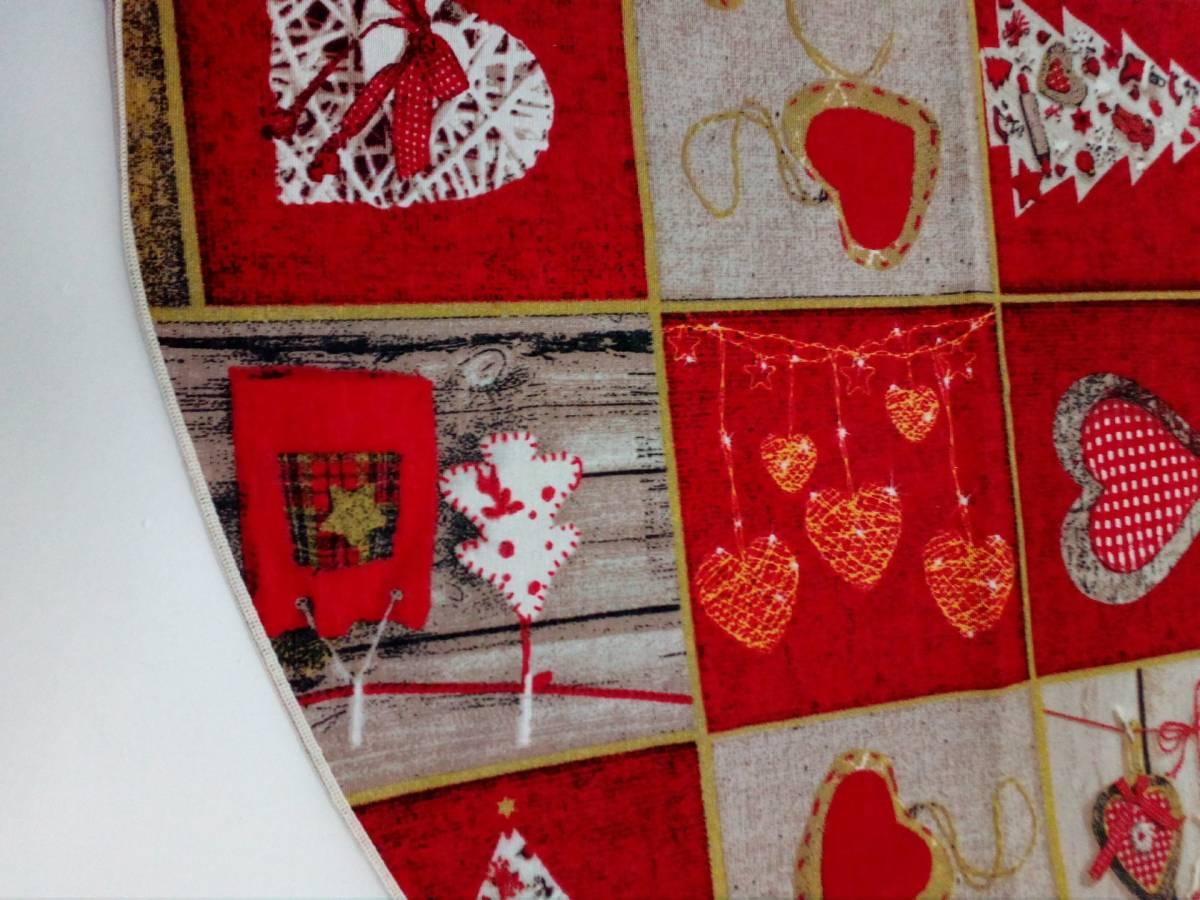 Bavlnený okrúhly vianočný obrus TT08