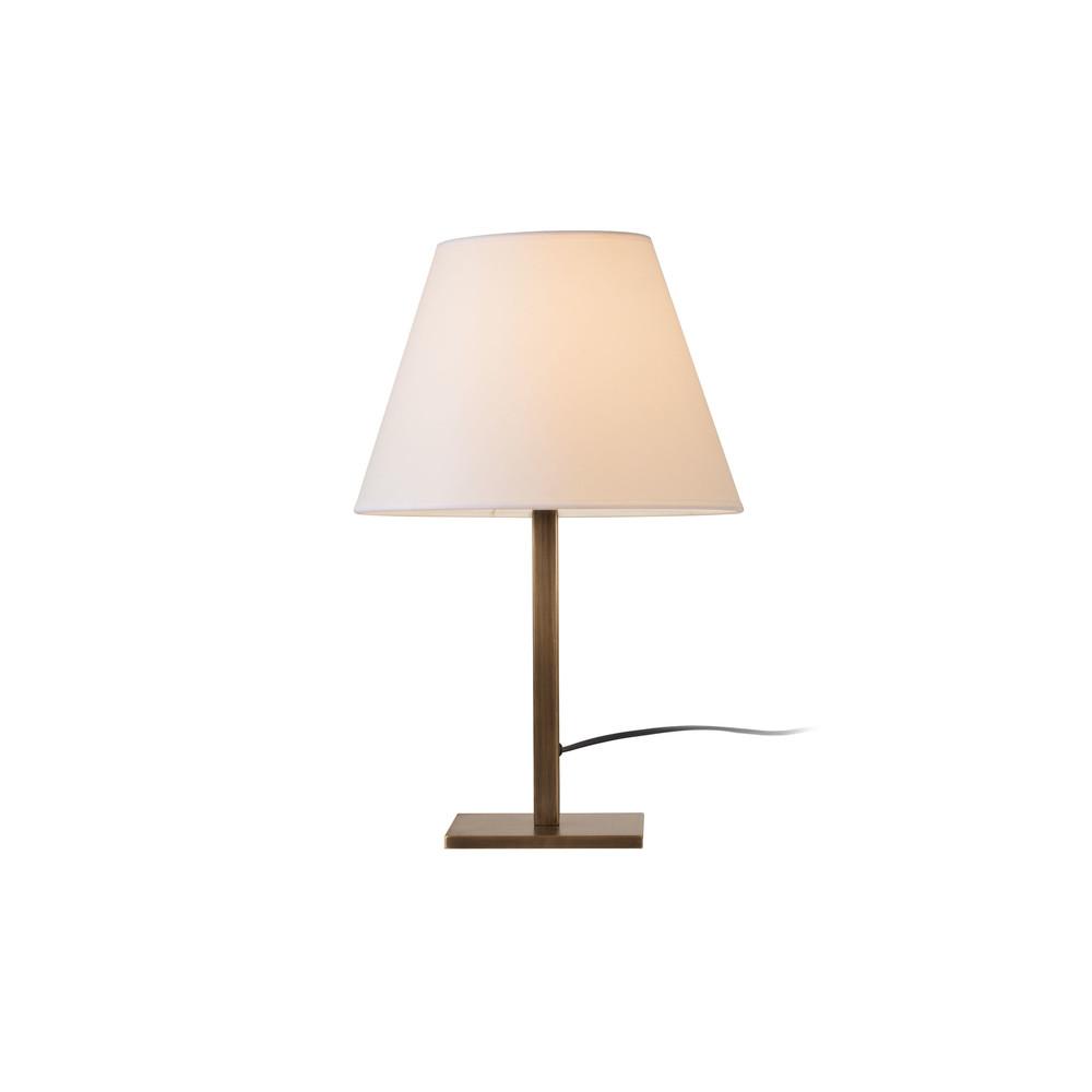 Stolová lampa v zlatej farbe s bielym tienidlom Dee