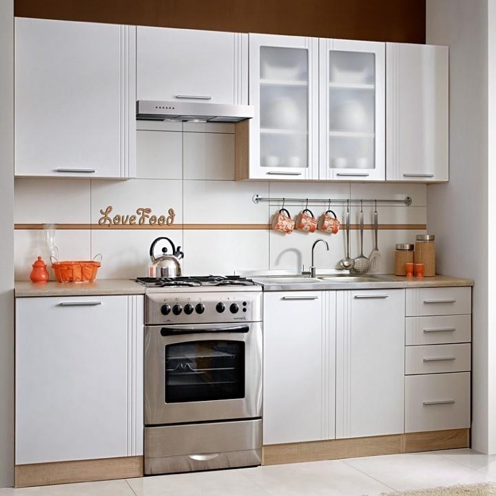TEMPO KONDELA MONDA 240 kuchyňa - dub sonoma / biela