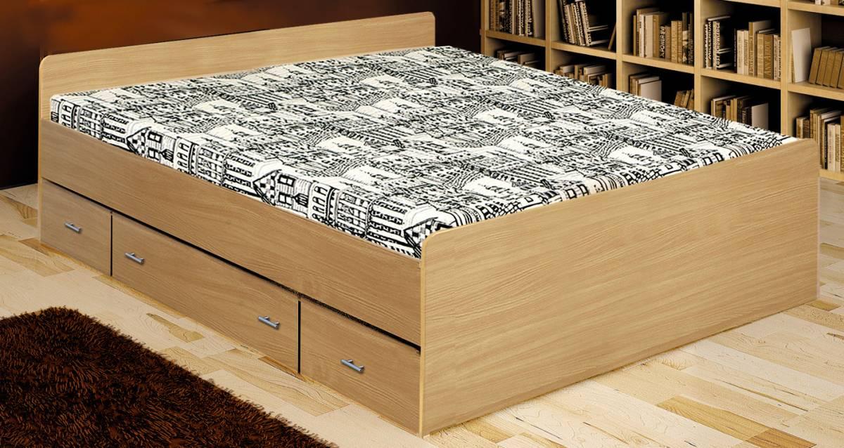 Manželská posteľ 140 cm Duet buk