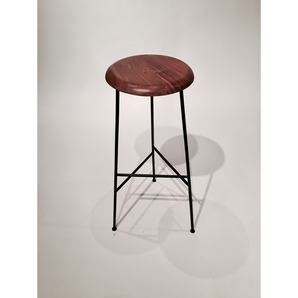 Barová stolička so sedadlom z akáciového dreva Simla Bar, výška 48 cm