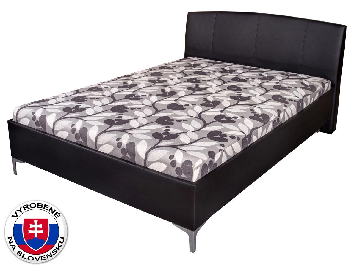 Manželská posteľ 140 cm Benab Elsona Lux (s roštami a matracmi)