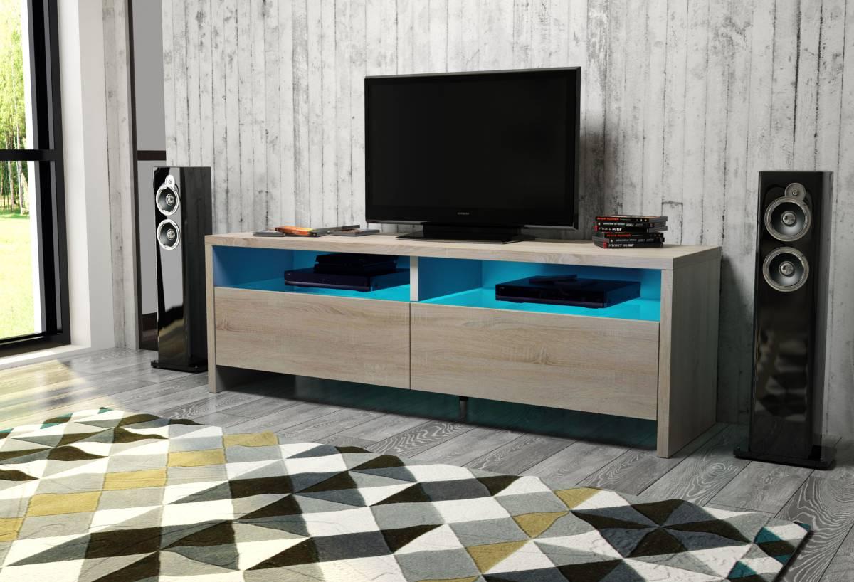TV stolík/skrinka Caracas (sonoma svetlá) *výpredaj