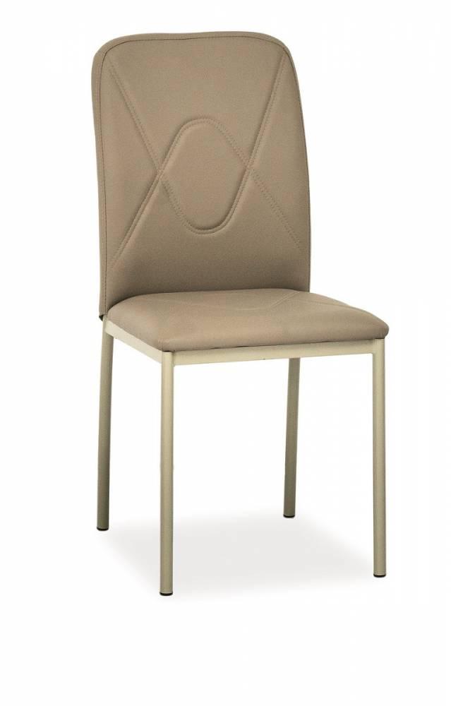Jedálenská stolička HK-623, tmavobéžová/tmavobéžová