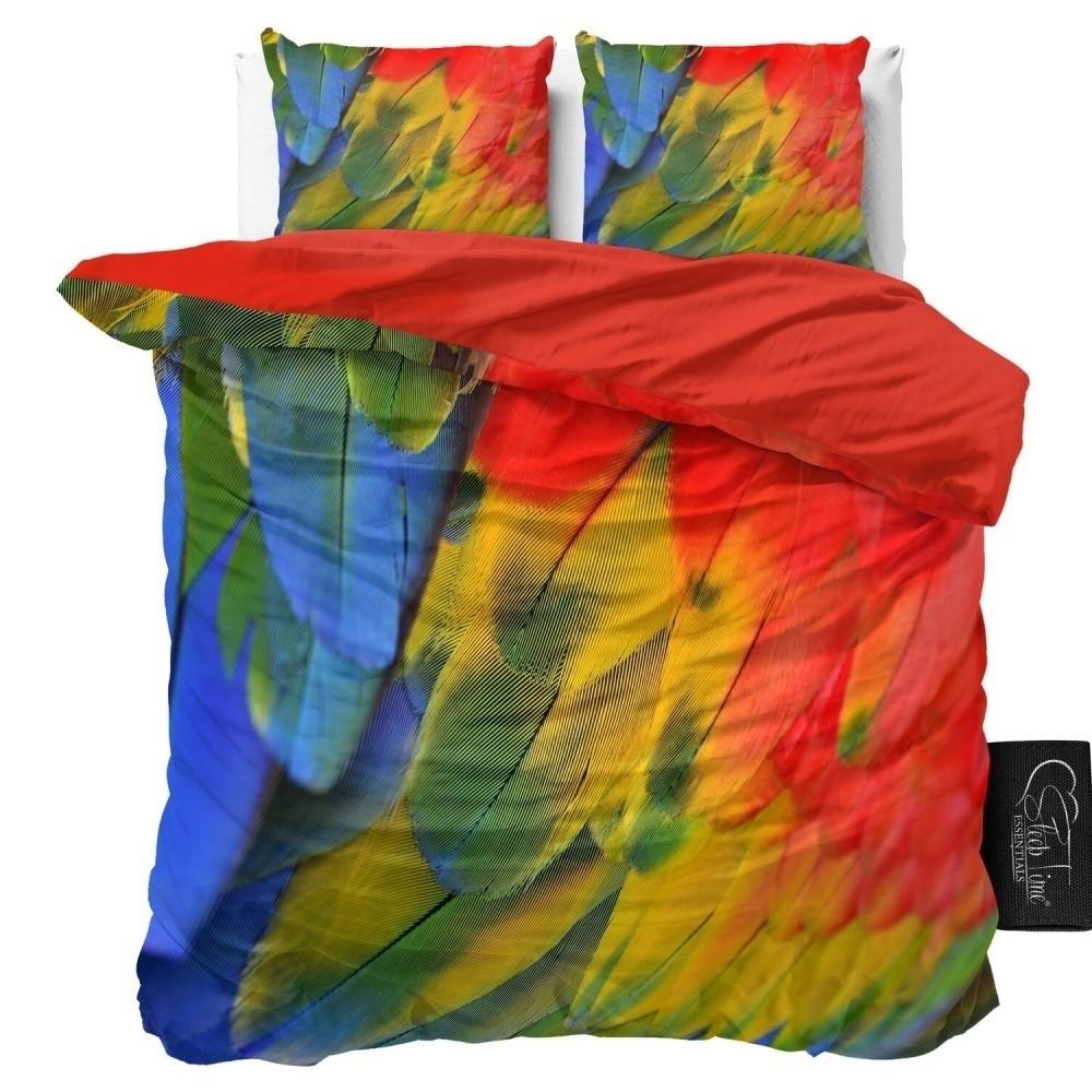 Obliečky z mikroperkálu Sleeptime Parrot, 160 x 200 cm