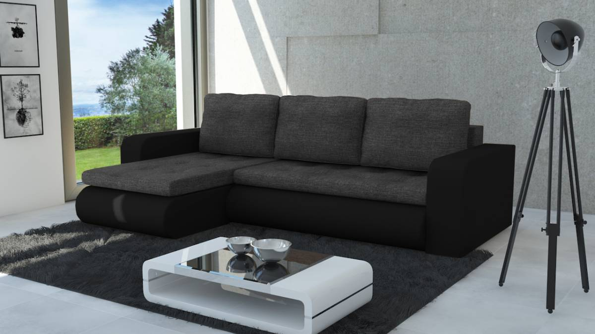 Moderná sedačka NEWYORK čierna