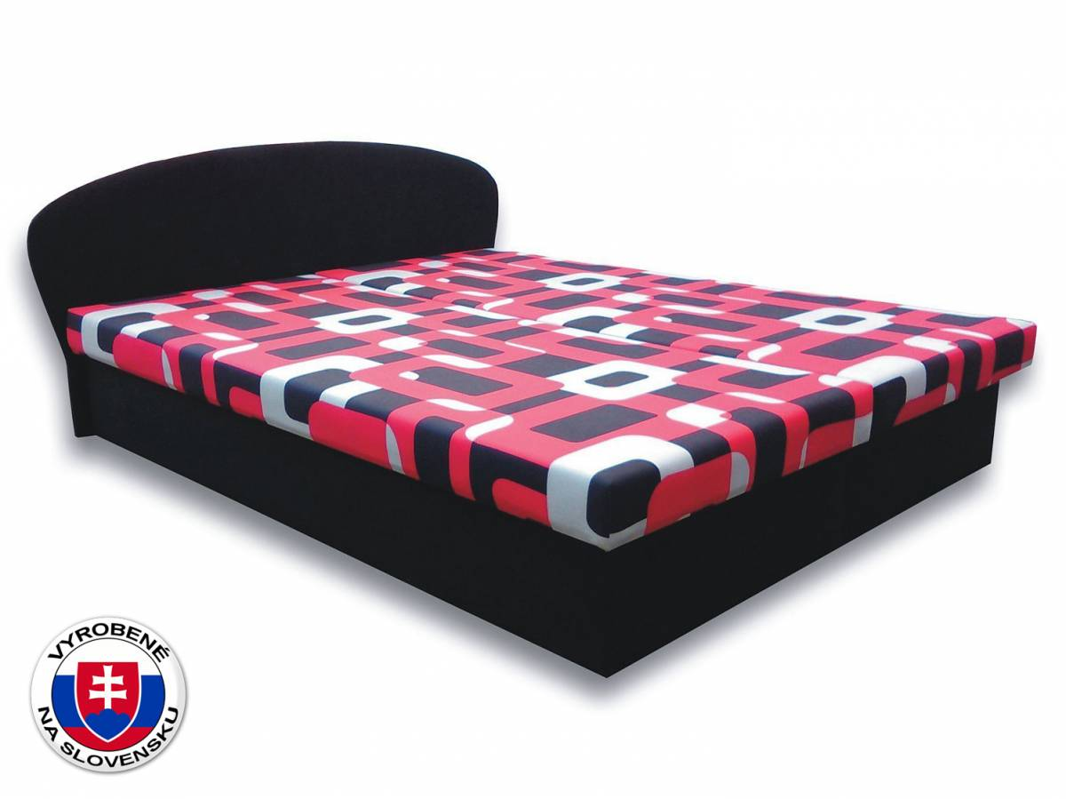 Manželská posteľ 180 cm Milka 5 (s penovými matracmi)