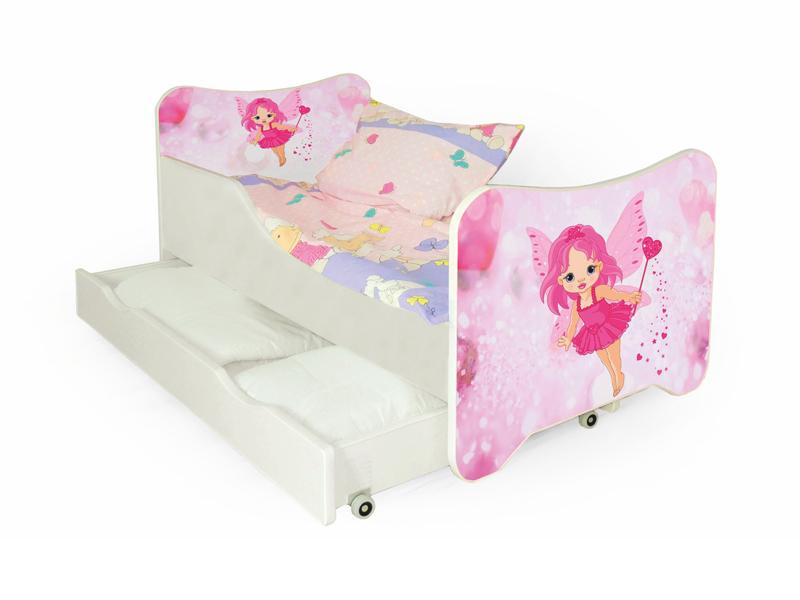 Jednolôžková posteľ 80 cm Happy Fairy (s roštom a matracom)