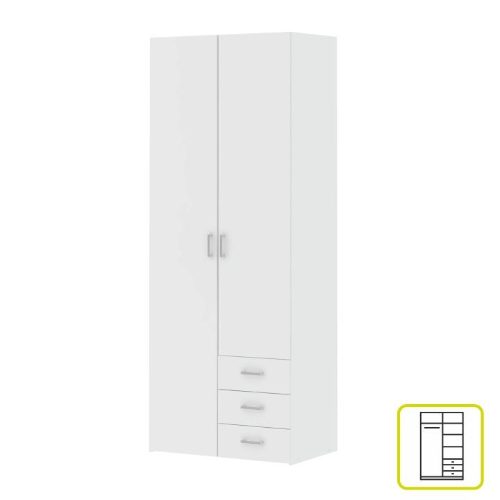 Skriňa, 2 -dverová, biela, GWEN 70425